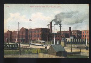 TOLEDO OHIO THE POPE MOTOR COMPANY MOTORCYCLE FACTORY VINTAGE POSTCARD