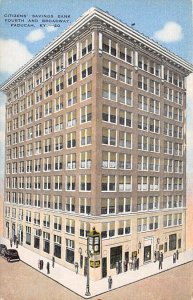 KY Postcard, Kentucky Post Card Citizen savings bank Fourth and Broadway Unused