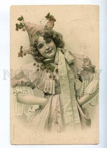 232365 RUSSIA circus Pierrette RPPC 1908 year Vartemyagi SPb