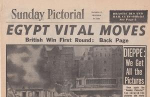 Sunday Pictorial Dieppe Victory Canada Tank WW2 Reprint Newspaper