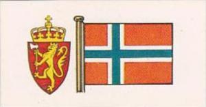 Brooke Bond Tea Trade Card Flags &  Emblems No 28 Norway