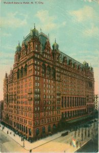 Waldorf Astoria Hotel New York 1912 Postcard