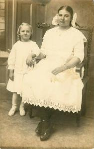 Postcard RPPC Woman and Child/Daughter