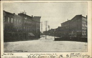 Fulton NY Part of First Street c1905 Postcard