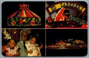 Postcard Wildwood NJ c1986 Ed Zaberers World Famous Restaurant Multi View Advert