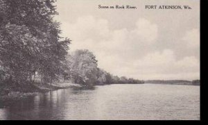 WisconsinFort Atkinson Scene On Rock River Albertype