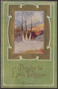 Bright Be Life's Pathway,Scene Postcard