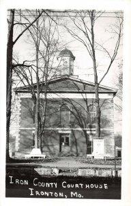 LPSS93 Ironton Missouri Iron County Court House Postcard RPPC