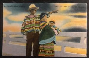 Mint USA PPC Picture Postcard Native American Seminole Indian Watching Sunrise