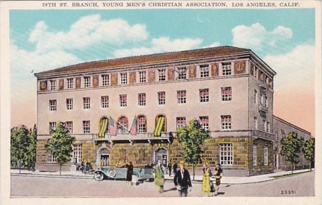 California Los Angeles 28th Street Branch Y M C A Building Hippostcard