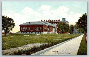 Louisville KY~Masonic Home & Chapel Long Sidewalk~2nd Empire Architecture~c1910