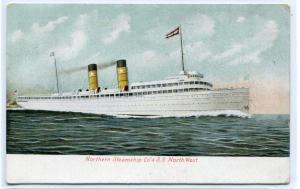 Steamer SS Northwest Northern Steamship Co 1907 postcard