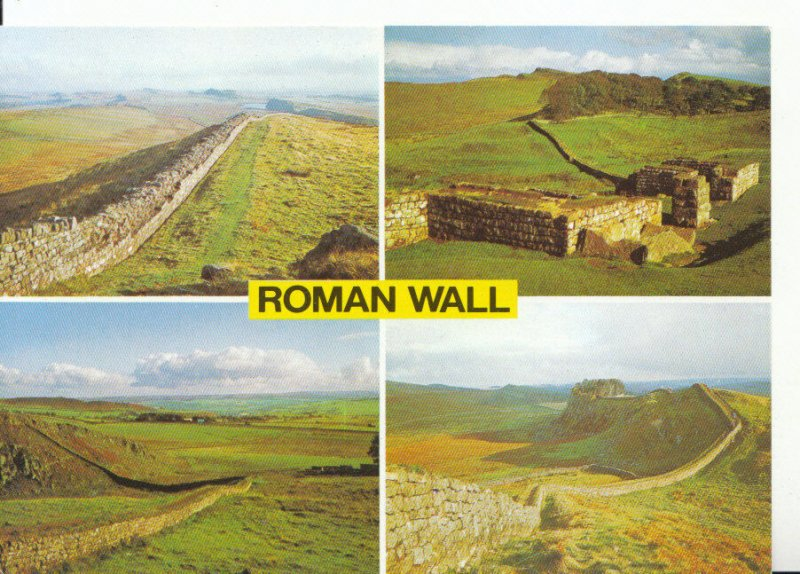 Northumberland Postcard - Views of The Roman Wall - Ref ZZ5683