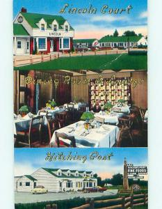 Unused 1950's LINCOLN COURT RESTAURANT & MOTEL Cheyenne Wyoming WY s6593