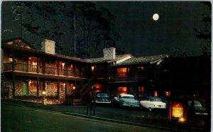 CARMEL, CA California  WAYSIDE  INN  Night Scene  c1950s  Cars Roadside Postcard