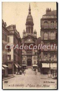 Old Postcard Le Havre Eglise Saint Michel