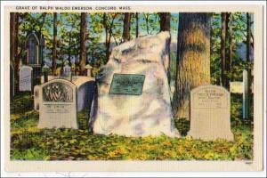 Grave of Ralph Waldo Emerson, Concord MA