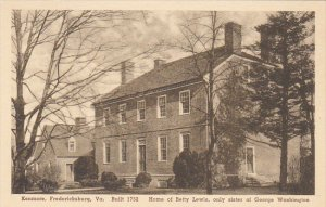 Virginia Fredericksburg Kenmore Home Of Betty Lewis Only Sister Of George Was...