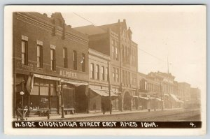 Ames IA~Grocer Grove Fruit Baskets~Potter Hardware~Real Estate~Shoes~RPPC 1912