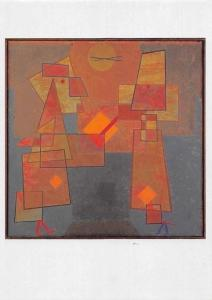 Paul Klee, Disput DIscussion, Dispute Oel auf Leinwand Postcard