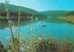 Postcard Bulgaria Razgard le barrage ptchelina dans la localite lake natural