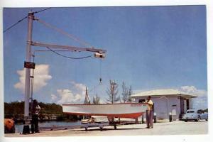 Homestead FL Boat Launch Old Cars Postcard