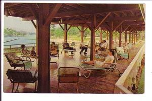 Breezeway, Delawana Inn, People in Lounge Chairs, Honey Harbour, Georgian Bay...