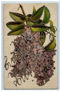 c.1910 Mica Greetings Harrisburg PA Lilacs Vintage Postcard F51