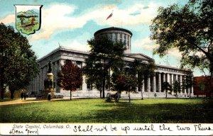 Ohio Columbus State Capitol Building 1907