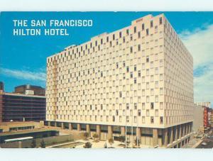 Unused Pre-1980 HILTON HOTEL San Francisco California CA c0648