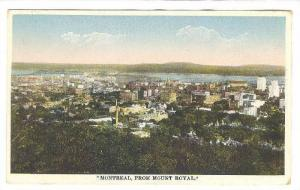 Montreal from Mount Royal, Quebec, Canada, PU-1929