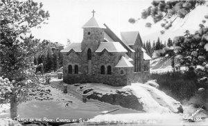 G23/ Allenspark Colorado RPPC Postcard Church on the Rock St Malos