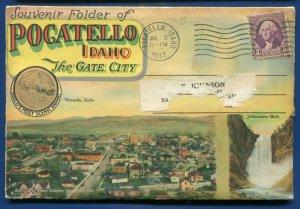 Pocatello Idaho the Gate City Oregon Short Line Station Postcard Folder