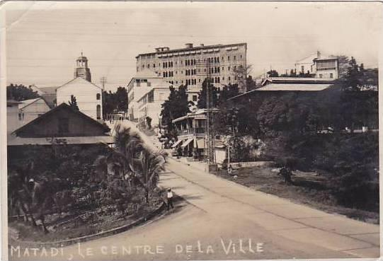 Belgian Congo Matadi Le Centre De La Ville Real Photo
