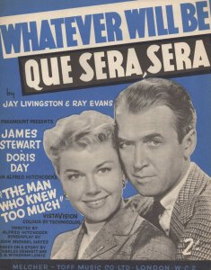 Whatever Will Be Que Sera Sera 1950s Sheet Music