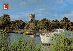 Dorset Postcard, The Quay, Christchurch, Boats, Church GQ0