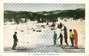 Le Manoir ST castin Lac Beauport Ouebec Canada Ski, Skiing, Old Vintage Antiq...