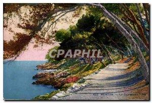 Old Postcard Menton Cap Martin