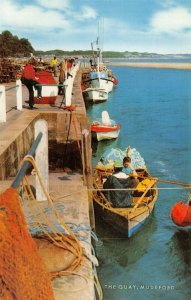 Vintage Dorset Postcard, The Quay at Mudeford, Fishing Boats FO5