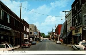 Central City Kentucky~Broad Street~M&R Shoppe~Duane's Hardware~Cars~1978 PC