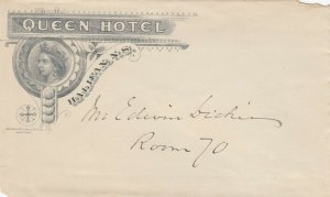 HALIFAX , Nova Scotia , Canada , 1900-10s; Unused envelope from the Queen Hotel
