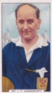 JT Howcroft Football Referee Aston Villa Huddersfield 1930s Cigarette Card