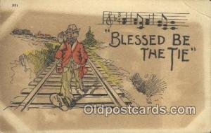 Blessed Be the Tie  Postcard Post Cards Old Vintage Antique Postcard, Post Ca...