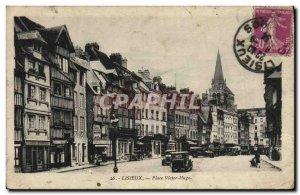 Old Postcard Lisieux Place Victor Hugo