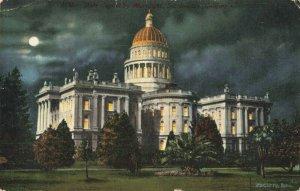 Postcard State Capitol by Moonlight Sacramento California