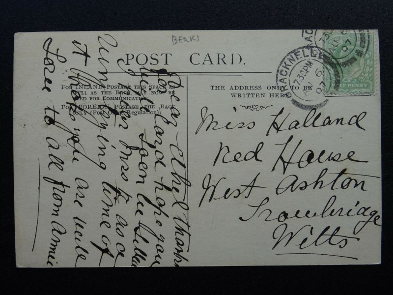 London Berkshire OLD BRACKNELL c1907 Postcard by Edward Norton