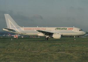 ALITALIA, A320-216, unused Postcard