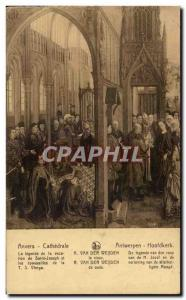 Old Postcard Antwerp Cathedral the legend of the vocation of Saint Joseph and...