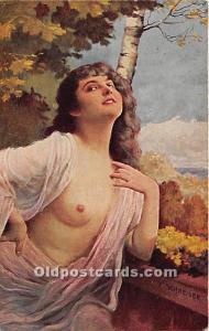 Halbakt Nude Postcard Ernst Schneider 1916