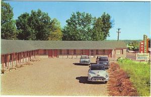 Lake Ozark MO Shoreland Motel Old Cars Vintage Postcard